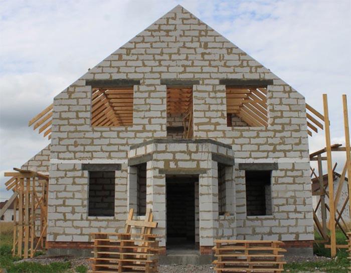 дом из пеноблока в Алматы Астана