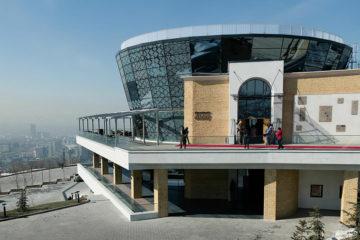 Строительство ресторана Абай на Кок-Тобе