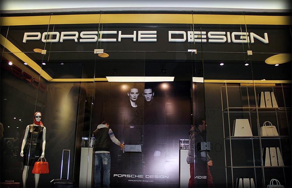 Строительство бутика Porsche Design Алматы